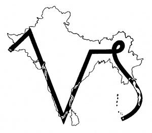 Capricorn glyph on India